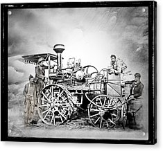 Old Steam Tractor Acrylic Print by Mark Allen