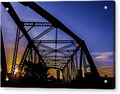 Old Steel Bridge Acrylic Print
