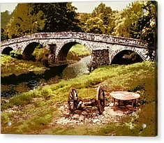 Old Stone Bridge In France Acrylic Print