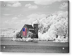 Acrylic Print featuring the photograph Old Stone Church Halespectrum 1 by Brian Hale