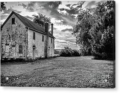 Old Stone House Black And White Acrylic Print