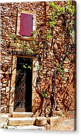 Old Stone House In Provence Acrylic Print by Olivier Le Queinec