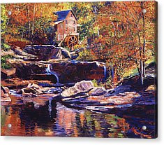 Old Stone Millhouse Acrylic Print by David Lloyd Glover