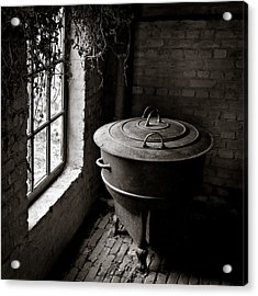 Old Stove Acrylic Print by Dave Bowman