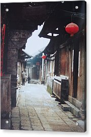 Old Street Acrylic Print by Tierong Fu