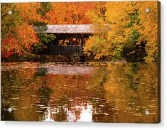 Acrylic Print featuring the photograph Old Sturbridge Village Covered Bridge by Jeff Folger