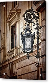Old Style Street Lamp In Valencia Spain  Acrylic Print