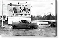 Old Sunoco Sign Acrylic Print