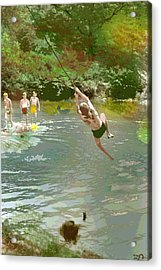 Old Swimming Hole Acrylic Print by Charles Shoup