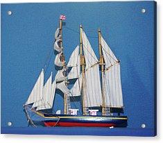 Old Tall Sail Ship Acrylic Print by Hugh Kroetsch