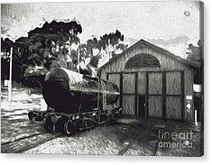 Old Tanker Train Carriage Fine Art Acrylic Print