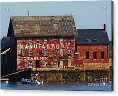 Old Tarr And Wonson Paint Factory. Gloucester, Massachusetts Acrylic Print