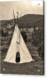 Old Time American Sepia Tepee Acrylic Print by James BO  Insogna