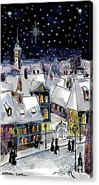 Old Time Winter Acrylic Print