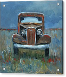 Acrylic Print featuring the painting Old Timer by Billie Colson