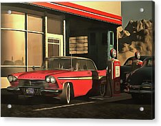 Old-timer Plymouth Acrylic Print