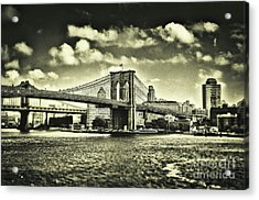 Old Times In Brooklyn Acrylic Print by Alessandro Giorgi Art Photography