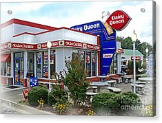 Old Timey Dairy Queen Acrylic Print