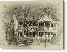 Old Timey Effect On Christopher Columbus Collier House Charlotte Historic Town Square Acrylic Print by Photo Captures by Jeffery