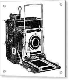 Old Timey Vintage Camera Acrylic Print by Karl Addison