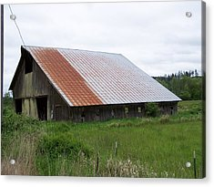 Old Tin Roof Barn Washington State Acrylic Print by Laurie Kidd