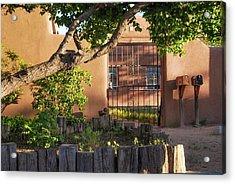Old Town Albuquerque Pueblo  Acrylic Print by Gregory Ballos