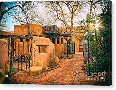Old Town Albuquerque Secret Passageway  - Albuquerque New Mexico Acrylic Print