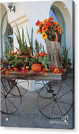 Old Town Autumn Wagon Acrylic Print