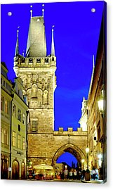Acrylic Print featuring the photograph Old Town Bridge Tower by Fabrizio Troiani