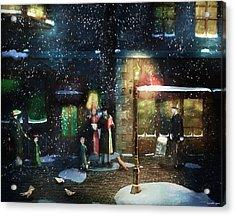 Old Town Christmas Eve Acrylic Print
