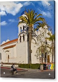 Old Town Church Acrylic Print by Patricia Stalter