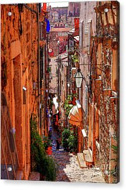 Old Town Dubrovniks Inner Passages Acrylic Print