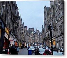 Old Town Edinburgh Acrylic Print