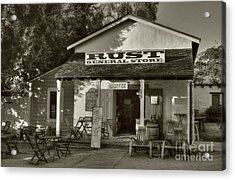 Old Town General Store Sepia Tone Acrylic Print