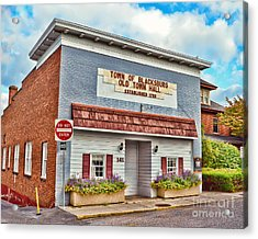 Old Town Hall Blacksburg Virginia Est 1798 Acrylic Print