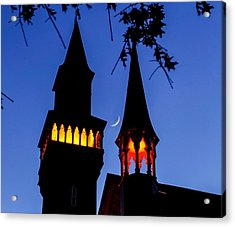 Old Town Hall Crescent Moon Acrylic Print