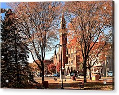 Old Town Hall In The Fall Acrylic Print