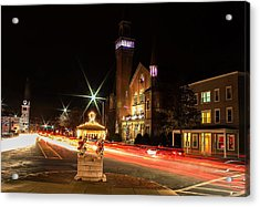 Old Town Hall Light Trails Acrylic Print