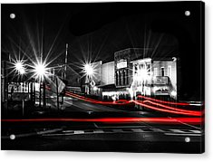 Old Town Helena At Night Acrylic Print by Shelby  Young