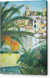 Old Town Ibiza Acrylic Print by Lizzy Forrester