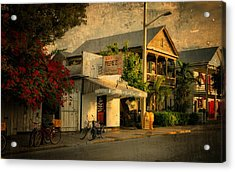 Old Town -  Key West Florida Acrylic Print by Thomas Schoeller