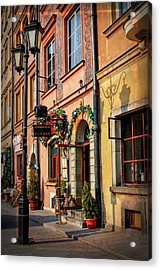 Old Town Market Square Warsaw Poland  Acrylic Print