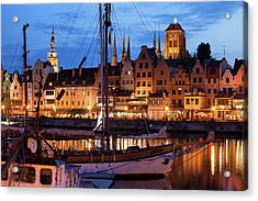 Old Town Of Gdansk At Twilight Acrylic Print by Artur Bogacki