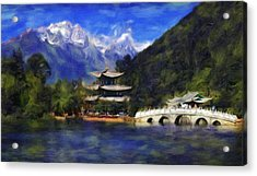 Old Town Of Lijiang Acrylic Print by Vincent Monozlay