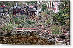 Old Town Rock Garden Shanghai Acrylic Print by Barb Hauxwell