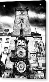Old Town Square Clock Tower Acrylic Print by John Rizzuto