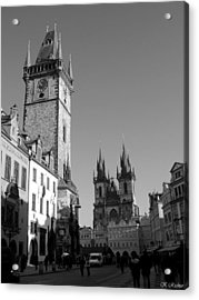 Old Town Square Acrylic Print by Keiko Richter