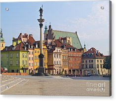 Old Town Square Zamkowy Plac In Warsaw Acrylic Print