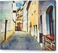 Old Town Streets Acrylic Print
