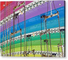 Old Town Swing Acrylic Print by Caren Grant